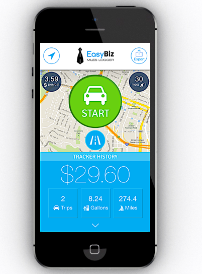EasyBiz - Mileage Tracker & Expense Log Mobile App | The