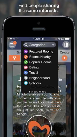 mingle chat room