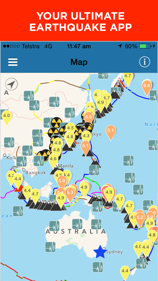Oz quake earthquake monitoring app mobile app the best mobile mobile app screenshot gumiabroncs Image collections