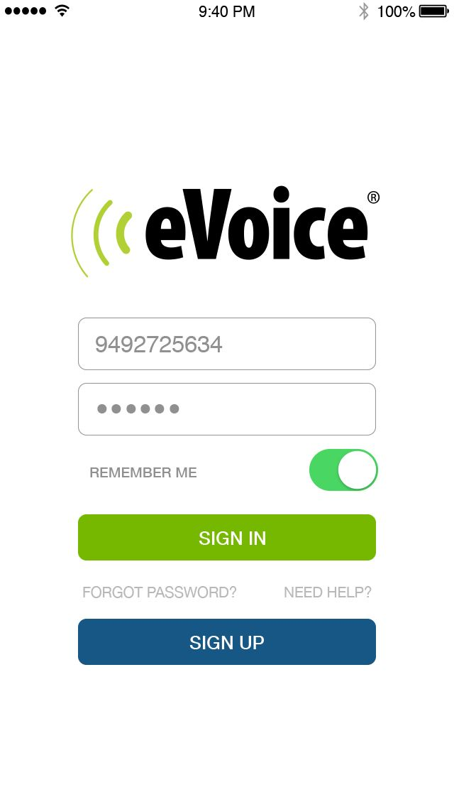 eVoice iOS Application Mobile App | The Best Mobile App Awards