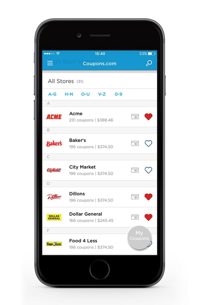 Coupons Com Mobile App The Best Mobile App Awards