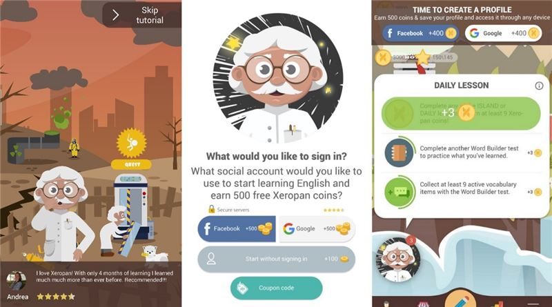 Xeropan - Language learning is PLAY Mobile App | The Best