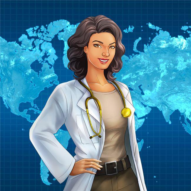Logo for Dr. Sara: Disease Detective - a mobile game about epidemiology