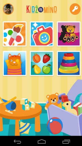 KidzInMind mobile app screenshot