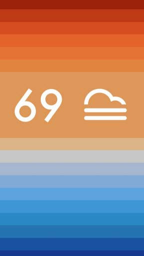 Clima - Weather mobile app screenshot